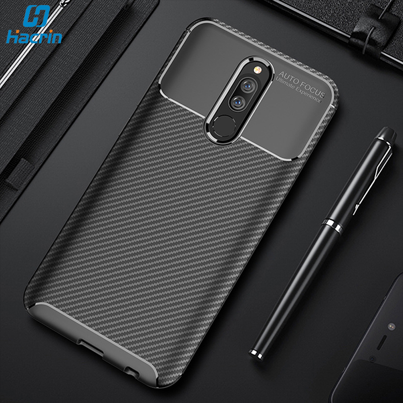 Hacrin Case For Xiaomi Redmi <font><b>8</b></font> Case Carbon Fiber Soft Shockproof Back Cover For Xiaomi Redmi 8A <font><b>8</b></font> A Case Full Protective Bumper image
