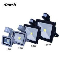 Светодиодный прожектор, 10 Вт, 20 Вт, 30 Вт, 50 Вт, PIR, AC 110 В, 220 В, светодиодный прожектор с датчиком движения, прожектор, водонепроницаемый, уличный...