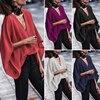 VONDA Women Sexy V Neck Long Sleeve Blouse Shirts 2019 Spring Autumn Tops Casual Loose Blusas OL Shirt Plus Size 5XL 1