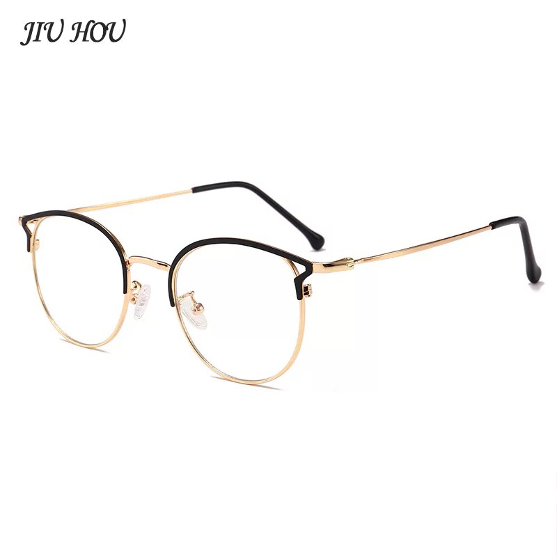 New Cat Eye Ladies Glasses Computer Glasses Anti Blue  Anti Radiation Glasses Clear Large  Protection Eye Strain