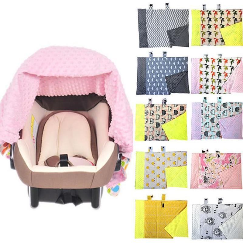 Baby Infant Newborn Cartoon Soft Blanket Nursing Car Seat Canopy