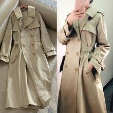 Khaki Long Trench Coat Women 2020 Spring Autumn New Korean Clothes Fashion Slim