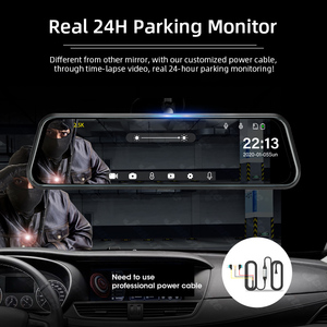 Image 5 - Jansite 10 inch Mirror 2.5K+1080P Car DVR Stream Media Super Night Vision Touch Screen Car Camera dash cam Parking Mode recorder
