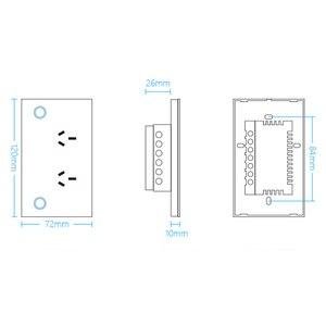 Image 4 - ASEER SAA אושר מגע בקרת כוח שקע 10A, שחור קריסטל זכוכית צלחת, AC110 240V, doubel קיר שקע מתג SAA GMA CE
