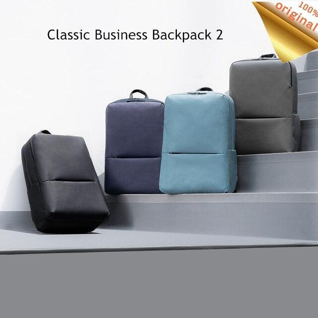 オリジナルxiaomi miクラシックビジネスバックパック 2 世代レベル 4 防水 15.6 インチ 18Lラップトップショルダーバッグアウトドア旅行バッグ