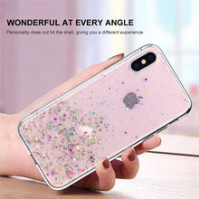 Lovebay Glitter Bling Sequins สำหรับ iphone 8 7 Plus 6 6s โปร่งใสสำหรับ iphone X XR XS MAX soft TPU ปกหลัง Coque(China)