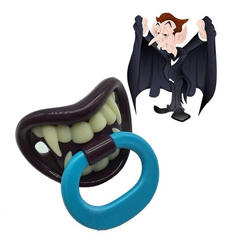Baby Boy Girl Creative Funny Novelty Dummy Baby Pacifier Vampire Tooth Nipple Mini And Easy To Carry Comfortable