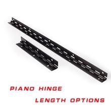 270 градусов Открытая Длинная линия L380mm L153mm 1 мм Толстая железная черная фортепианная мебельная петля с бесплатными винтами