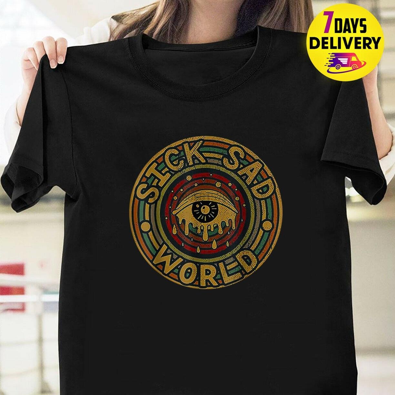 KLLASS,SICK SAD WORLD,T-shirt,Men/'s,goth,Club,Rave,Festival,Party,cool,Classic