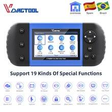 VDIAGTOOL VT600 OBD2 Car Tool Automotive Scanner ABS SRS DPF Injector Coding OIL Reset Code Reader OBD Car Diagnostic Tool