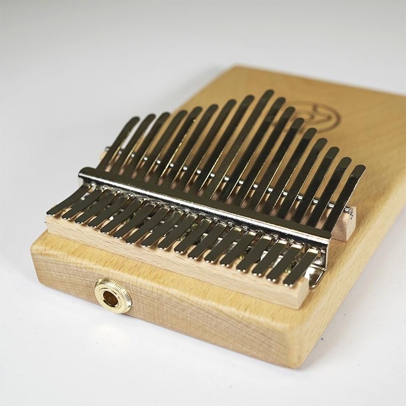 Апрель Ян 17 ключей Электрический твердый корпус калимба