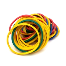 50Pcs/Bag 26MM Diameter Stationery Office Holder Colorful Band Good Elasticity Tape Rubber Band