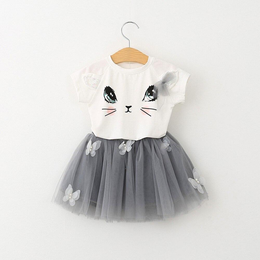 Летнее платье для девочек; Детское милое Повседневное платье принцессы с рисунком кота для девочек; Вечерние фатиновые платья пачки для детей; Детская одежда; Vestidos|Платья|   | АлиЭкспресс