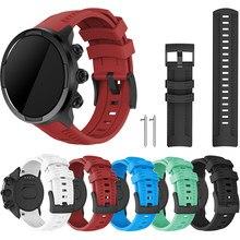 Pulseira de silicone esporte pulseira para suunto spartan esporte/esporte pulso hr/para suunto 9 baro relógio substituição pulseira esporte
