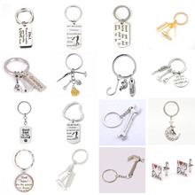 Keyring Gift Key-Chain It Wrench Fix Hammer Model Dad No-One Rule Can't Spanner Diy-Tool