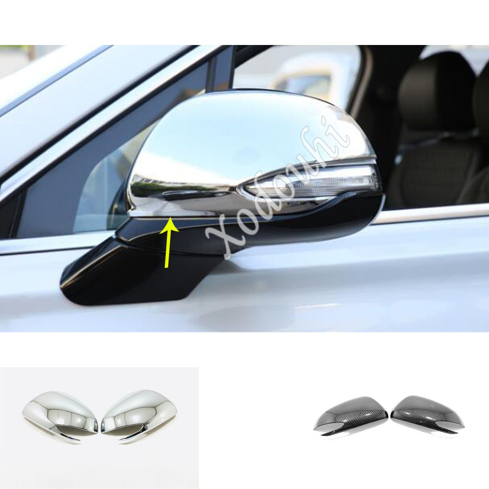 Car Sticker Styling Eyebrow Back Rear View Rearview Side Door Cover Trim Frame Parts 2pcs For <font><b>Hyundai</b></font> <font><b>Santa</b></font> <font><b>Fe</b></font> SantaFe <font><b>2019</b></font> <font><b>2020</b></font> image