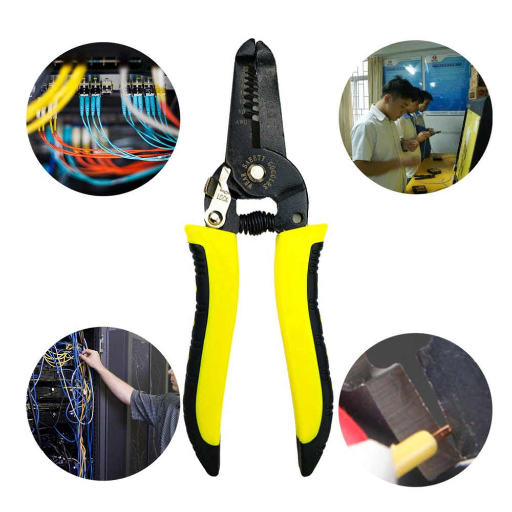 """7 """"professionele Draad Strippen Cutter Draagbare Stripper Crimper Tang multifunctionele Kabel Draad Krimpen Manual Tool"""