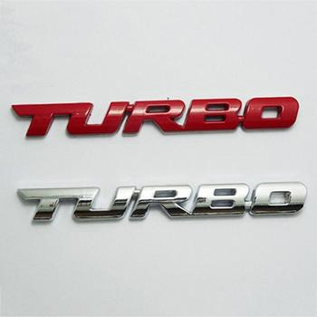 Cool 3D Alloy Metal Letter Turbo Car Motorcycle Emblem Badge Sticker Decal Decor image
