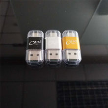 Type-c otg Card Reader Aluminium Alloy TF Card Mini Card Reader Mobile Phone Metal Card Reader Factory Direct(China)