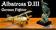 купить Free Shipping Static Model, Airplane Models, Albatros D.III 1:18 Static Scale Display Replica,Balsa Kit, Balsawood Airplane недорого