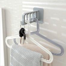 Foldable Key Decorative Hooks Multi-function Door Strong Adhesive Hanger Storage Rack Coat Creative Solid