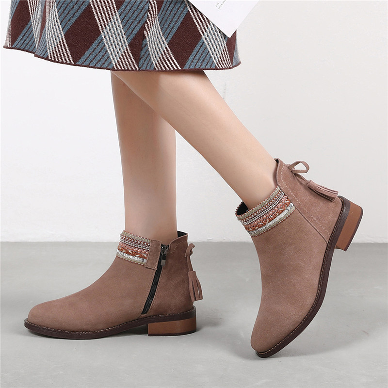 New 2019 Autumn And Winter Chelsea Boots Non-slip And Wearproof Women Fashion Boots Shoes Female