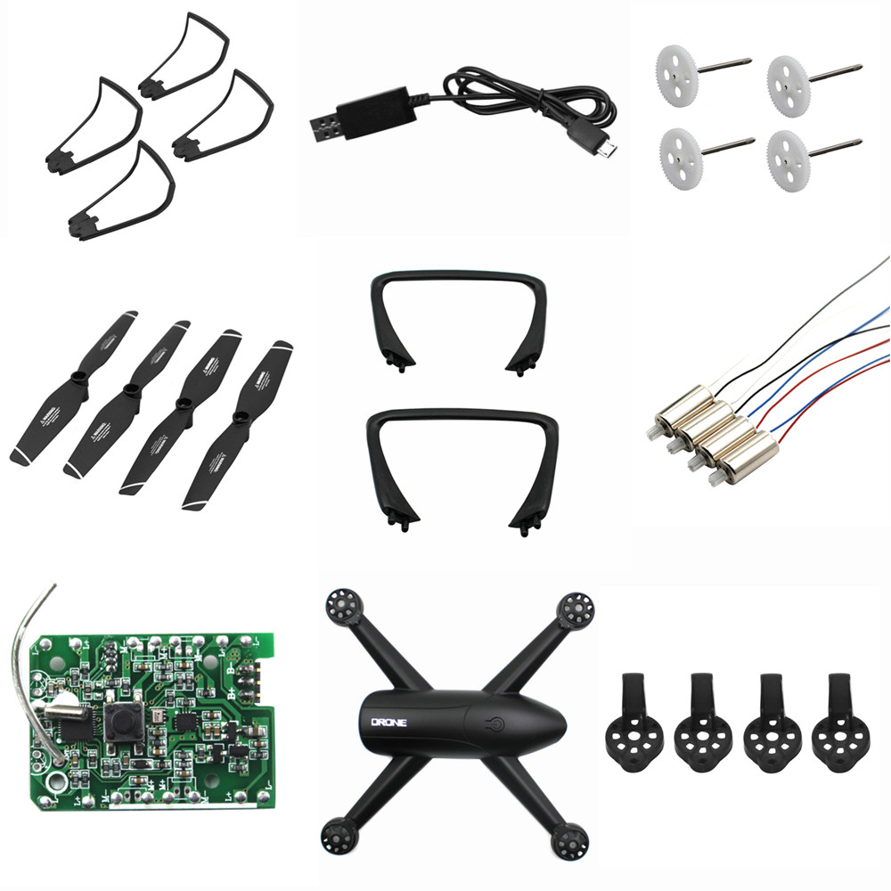 DIY Assembly Accessories Set For For SG106 RC Drone Landing Gear Receiving Plate Case Engine Charging Cable Propeller Guard Ring