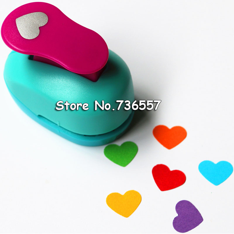 3/8'' 1cm 1.5cm 2.5cm Hearts Paper Punch Scrapbooking Punches Craft Perfurador Paper Cutting Machine Furador Diy Puncher Cutter