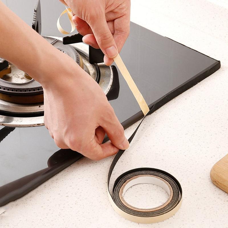 Gas Stove Table Gap Anti-fouling Pool Sink Dustproof Waterproof Seal Soundproofing Household Kitchen Gadget