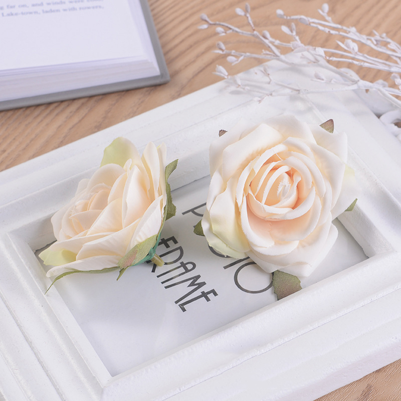JAROWN Artificial Silk Roses Flowers Scrapbook Wedding Home Decor DIY Gifts Box Christmas Garlands Household Products Fake Flowers (18)