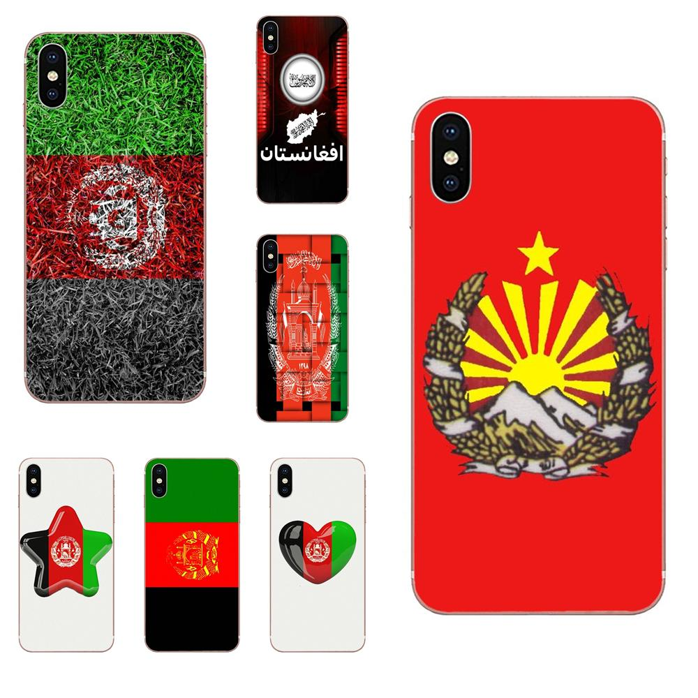 <font><b>Afghanistan</b></font> Flag For Apple iPhone 4 4S 5 5C 5S SE 6 6S 7 8 Plus X XS Max XR Soft TPU Capa Coque image