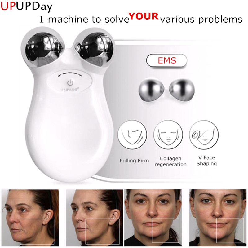 Household EMS Microcurrent Beauty Device Lifting Facial Massager Wrinkle Remover Tightening Beauty Instrument Skin Rejuvenation