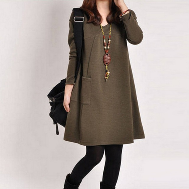 LOOZYKIT Autumn Maternity Dresses in Casual Style 4