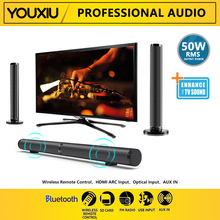 YOUXIOU 50W Home Theater Surround Sound System TV Sound Bar Detachable Bluetooth Speakers Hifi 3D Stereo Column Dual Subwoofers