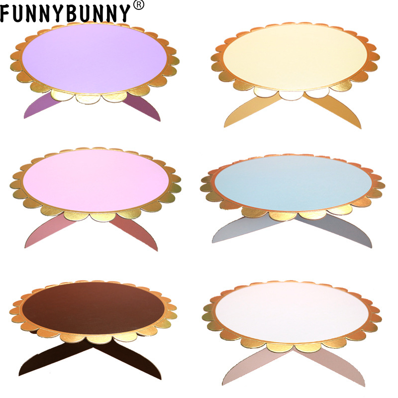 Party Display Card Slot Practical Dessert Flower Shape Single Layer Pastry Paper Decoration Birthday Wedding Table Cake Tray