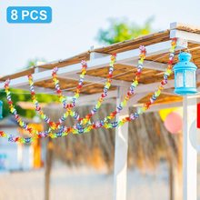 METABLE 8 PCS 10 ft Luau Flower Banner for Summer Theme Wedding Party Decorations Hawaiian