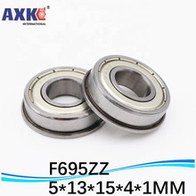 F695 F695-ZZ F695ZZ F695-2RS F695Z zz z 2z F619/5 DDLF-1350ZZ Flanged Flange Deep Groove Ball Bearings 5*13*15*4*1 mm 30pcs lot f6900zz f6900 zz 10x22x6mm flange thin wall deep groove ball bearing
