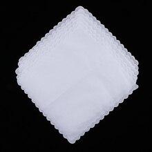 6x DIY женские белые носовые платки, вечерние носовые платки, хлопок, одноцветные белые носовые платки, дизайн без рисунка, удовлетворяет ваши потребности в рукоделии