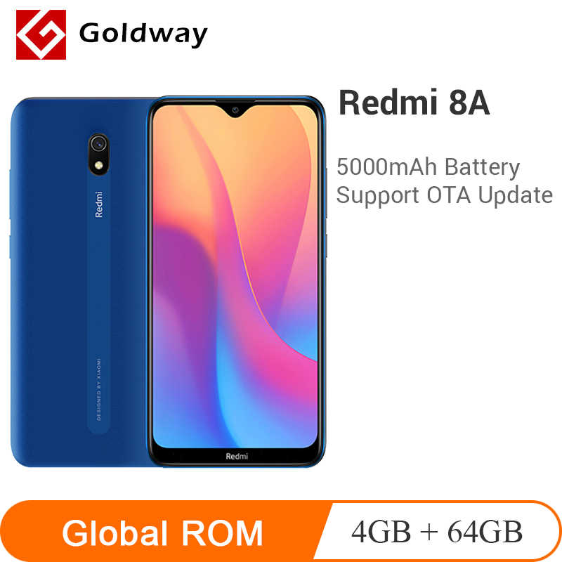 "Global ROM Xiaomi Redmi 8A 8 64GB ROM 4GB RAM Ponsel Snapdragon 439 Octa Core 6.22 ""5000MAh 12MP Kamera Smartphone"