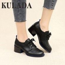 KULADA Women Pumps Shoes Female Black La