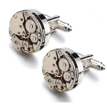 100pcs/Limited Edition High quality metal New Mechanical Watch Core cufflinks