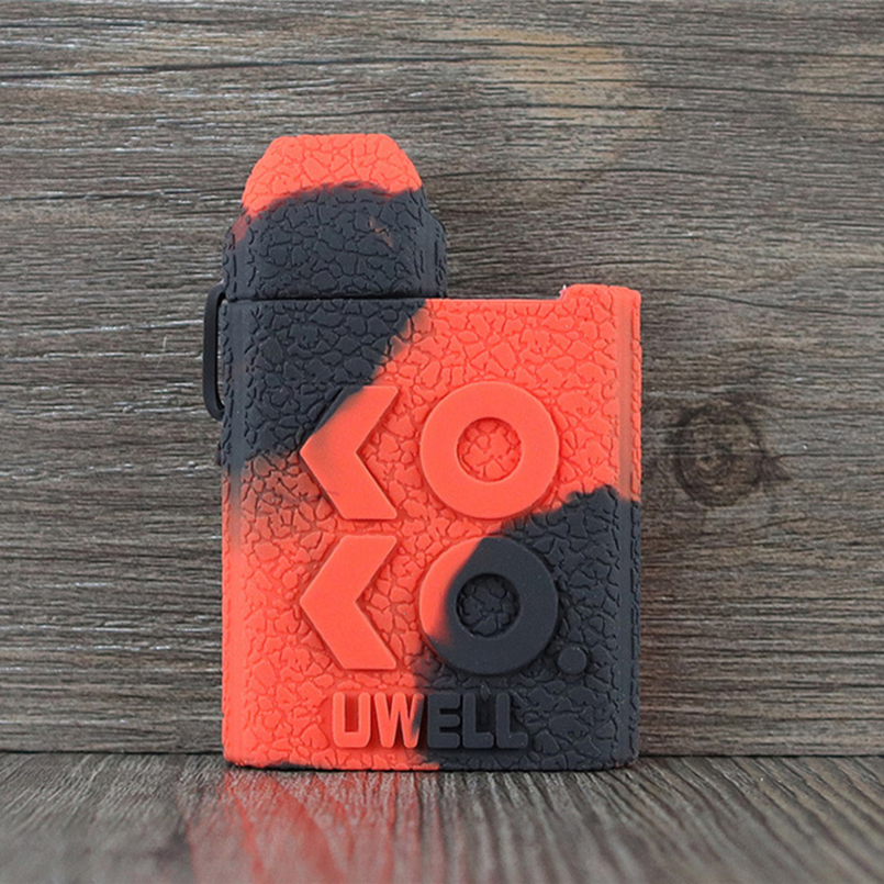 Silicone Case for Uwell Caliburn Koko Texture Cover,Protective Rubber Sleeve Wrap Shield Skull Red