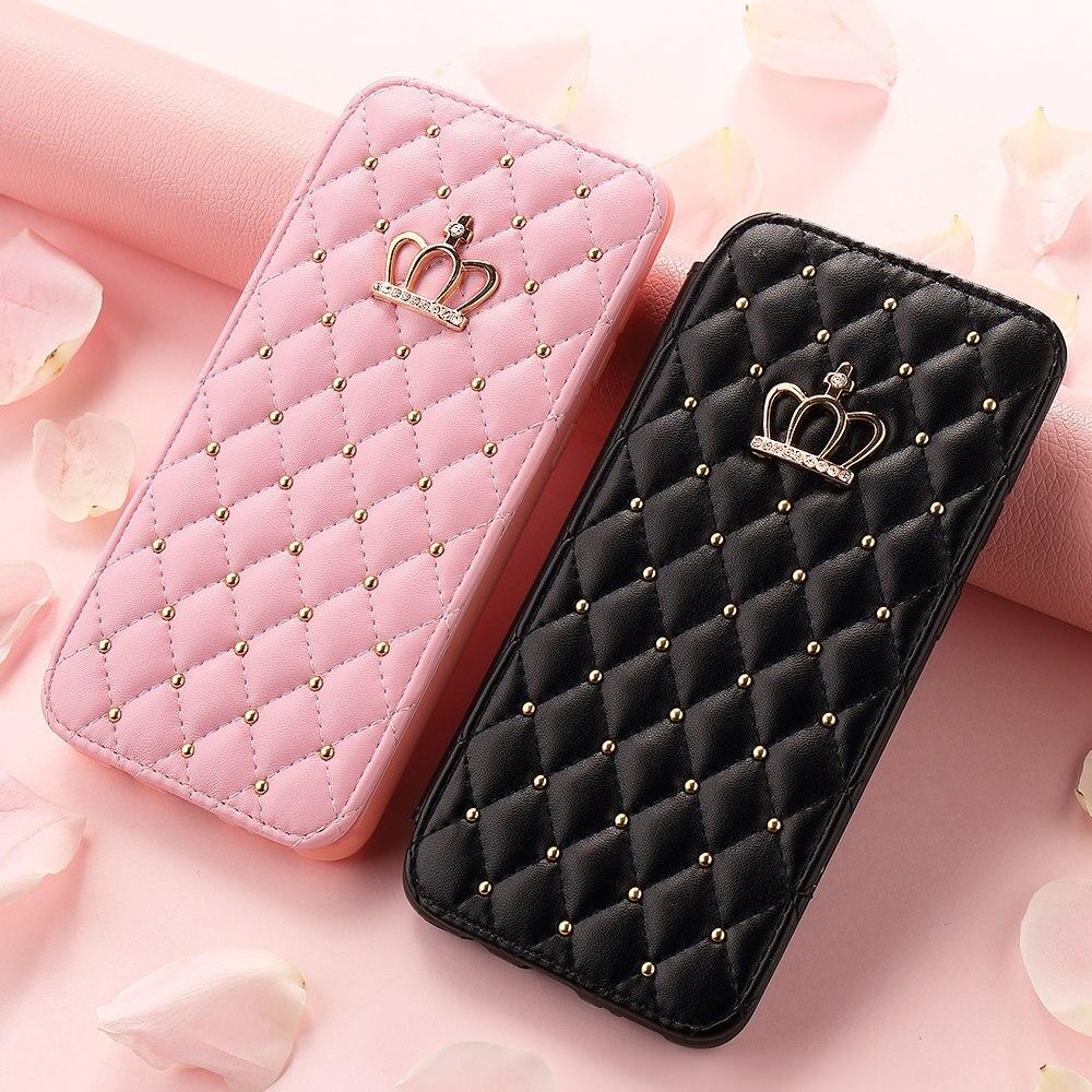 Portefeuille de luxe Flip Téléphone étui pour samsung A70 A50 A30 A20 Fille En Cuir Housse Pour Galaxy A8 2018 A7 A6 A5 A3 J6 J4 Plus J3 2017
