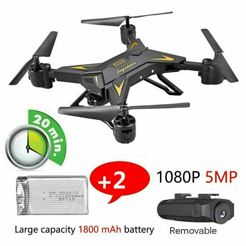 With Camera Kids Adults 4CH Foldable Quadcopter 5MP HD WIFI Remote Control 6 Axis RC Drone 2 4GHz Toy Altitude Hold Aircraft