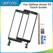 For Ulefone Armor X3 Touch Screen 5.5Tested Digitizer For Ulefone Armor X3 Touch Panel Front Glass Sensor +Tools And Adhesive