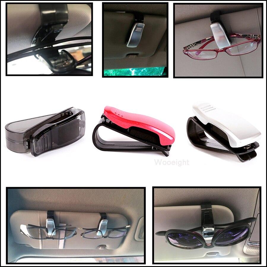 1x Car Dashboards Glasses Sunglasses Clip Name Card Ticket Pen Holder Organizer