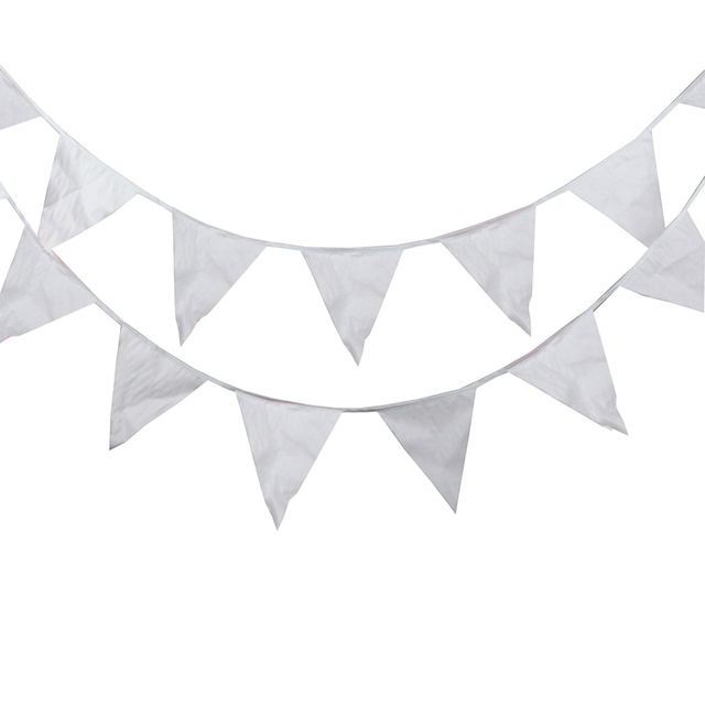 80M 200 Flags Silk Bunting Festive&Party Decoration Garden Wedding Supplies,Romantic White Christmas Party flags And Banners
