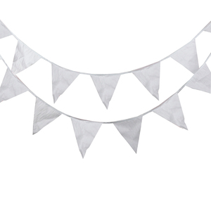 Image 1 - 80M 200 דגלי משי גבתון חגיגי & מפלגה קישוט גן אספקת חתונה, רומנטי לבן חג המולד המפלגה דגלים וכרזות