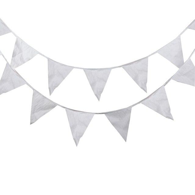 80M 200 דגלי משי גבתון חגיגי & מפלגה קישוט גן אספקת חתונה, רומנטי לבן חג המולד המפלגה דגלים וכרזות