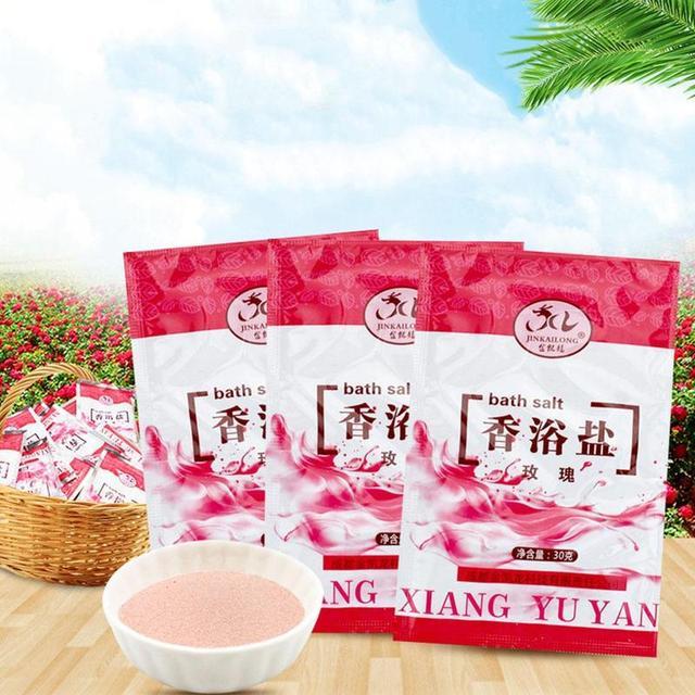 1 Bag Bath Sea Salts Exfoliator Rose Powder Shower Body Foot Massager Skin Care Spa Exfoliation Bath Salt 3
